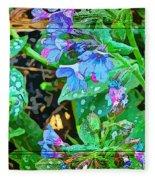 Violets Are Blue Fleece Blanket