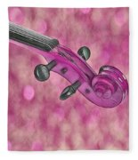 Violinelle - Pink 01b Fleece Blanket