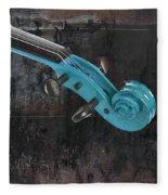 Violinelle - Turquoise 05a2 Fleece Blanket
