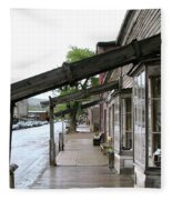 Virginia City Montana 03 Fleece Blanket