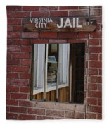 Virginia City Nevada Jail Fleece Blanket