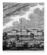 Virginia: College, 1856 Fleece Blanket