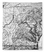 Virginia: Map, C1784 Fleece Blanket