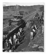 Virginia: Railroad, C1861 Fleece Blanket