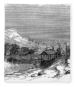 Virginia: Salt Mine, 1857 Fleece Blanket