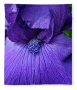 Vision In Violet Fleece Blanket