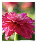 Vivid Floral Fleece Blanket
