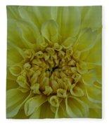 Vivid Yellow Dahlia Fleece Blanket