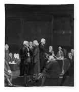 Voting Independence, 1776 Fleece Blanket