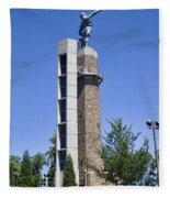 Vulcan Park Statue In Birmingham Fleece Blanket