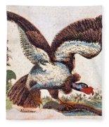 Vulture Attacking A Snake Fleece Blanket