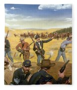 Wagon Box Fight, 1867 Fleece Blanket