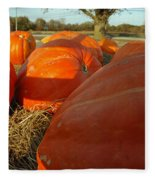 Wagon Ride For Pumpkins Fleece Blanket