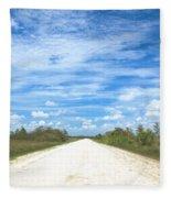 Wagon Wheel Road - 4 Fleece Blanket
