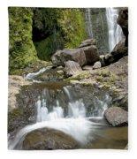 Wailua Falls And Rocks Fleece Blanket