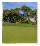 Wailua Golf Course - Hole 17 - 3 Fleece Blanket