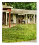 Waiting By The General Store Fleece Blanket