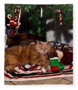 Waiting For Santa Fleece Blanket