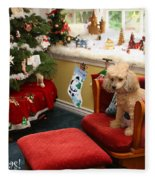 Waiting For Santa Fleece Blanket
