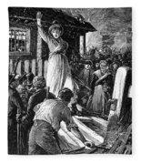 Wales: Rebecca Riots, 1843 Fleece Blanket