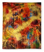 Walk Through The Fire Fleece Blanket
