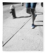 Walking Blues Fleece Blanket