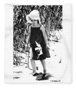 Walking The Shoreline Fleece Blanket