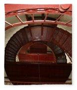 Piedras Blancas Lighthouse Staircase Fleece Blanket