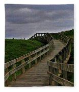 Walkway On Phillip Island Fleece Blanket