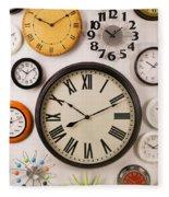 Wall Clocks Fleece Blanket