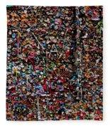 Wall Of Gum Fleece Blanket