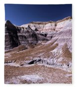 Wall Of Purple Fleece Blanket