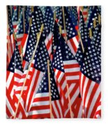 Wall Of Us Flags Fleece Blanket