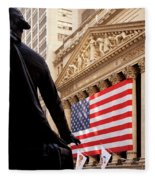 Wall Street Flag Fleece Blanket