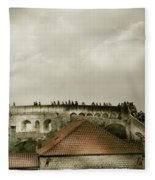 Walls Of Dubrovnik Fleece Blanket