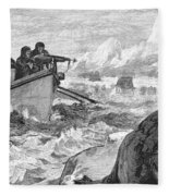 Walrus Hunt, 1875 Fleece Blanket