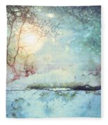 Wandering In The Light Fleece Blanket