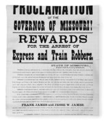 Wanted Poster, 1881 Fleece Blanket