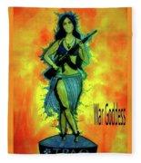War Goddess Fleece Blanket