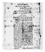 War Of 1812: Broadside Fleece Blanket