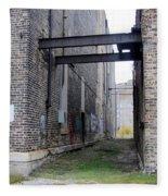 Warehouse Beams And Grafitti Fleece Blanket