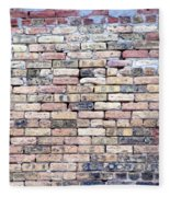 Warehouse Brick Wall Fleece Blanket