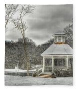 Warm Gazebo On A Cold Day Fleece Blanket