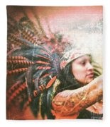 Warrior Dance Fleece Blanket