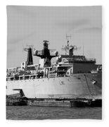 Warship Hms Bulwark Fleece Blanket