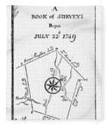 Washington: Book Of Surveys Fleece Blanket