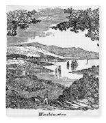 Washington, D.c., 1840 Fleece Blanket