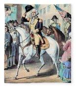 Washington Enters New York City After Fleece Blanket