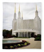 Washington Temple Fleece Blanket