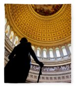 Washington Under Capitol Dome Fleece Blanket